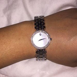 Authentic Movado mother of pearl watch